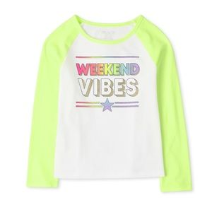 NWT Children's Place Graphics Long Sleeve Top L